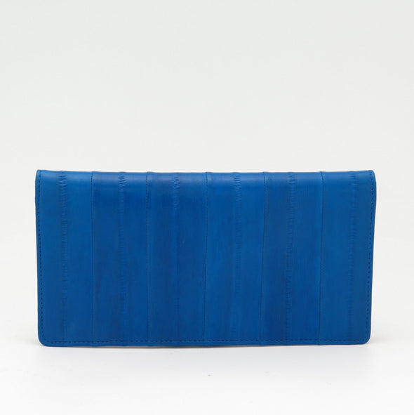 Royal Blue Eel Skin Standard Wallet