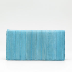 Pale Blue Eel Skin Wallet
