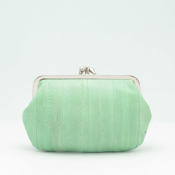 Mint Eel Skin Clip Purse