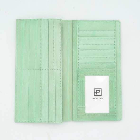 Mint Eel Skin Wallet