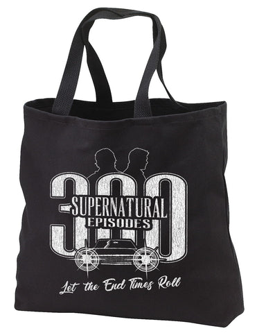 "Supernatural ""300 Episodes"" Tote Bag"