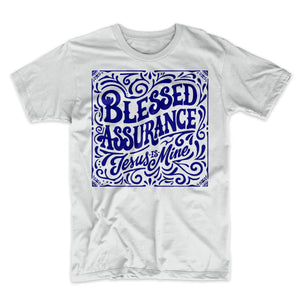Blessed Assurance (Blue on Ash Grey)