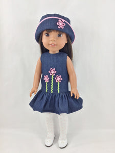 NEW STYLE! Fits AG Welliewishers Dress Bucket Hat Stockings