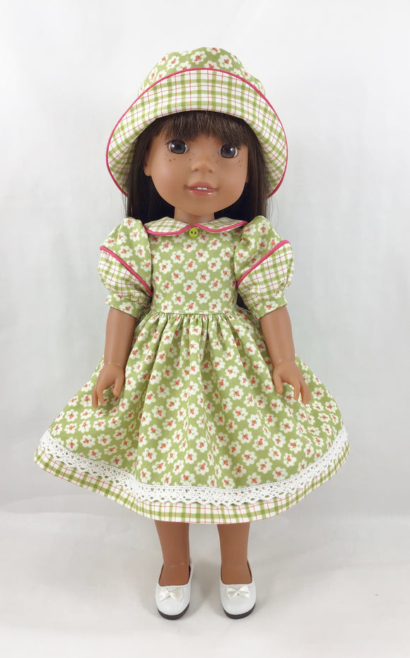 Fits Welliewishers Split Sleeve Dress and Bucket Hat