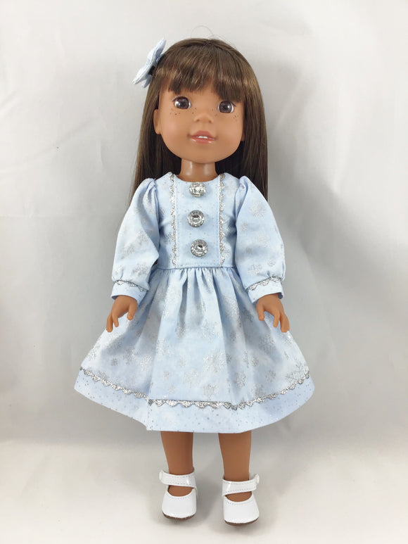 Snowflake Dress Fits AG Welliewishers