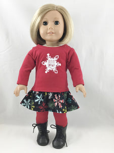 "The Nina Graphic Holiday Set Made For 18"" AG Dolls"