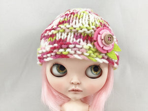 "SALE! Knit Hat fits Blythe and 18"" Dolls"