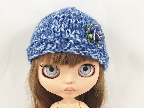 Sale! Hand Knit Hat Fits Blythe or American Girl