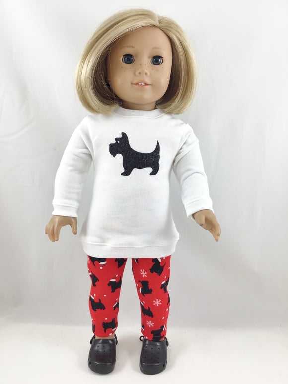 Fits American Girl Graphic Tunic Sweatshirt and Leggings