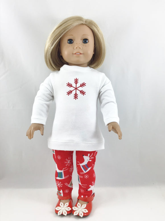 Made For American Girl Dolls Sweatshirt Tunic and Leggings