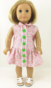 The Hannah Dress Pink and Green