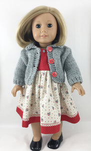 The Elizabeth Sweater and Dress Grey and Red
