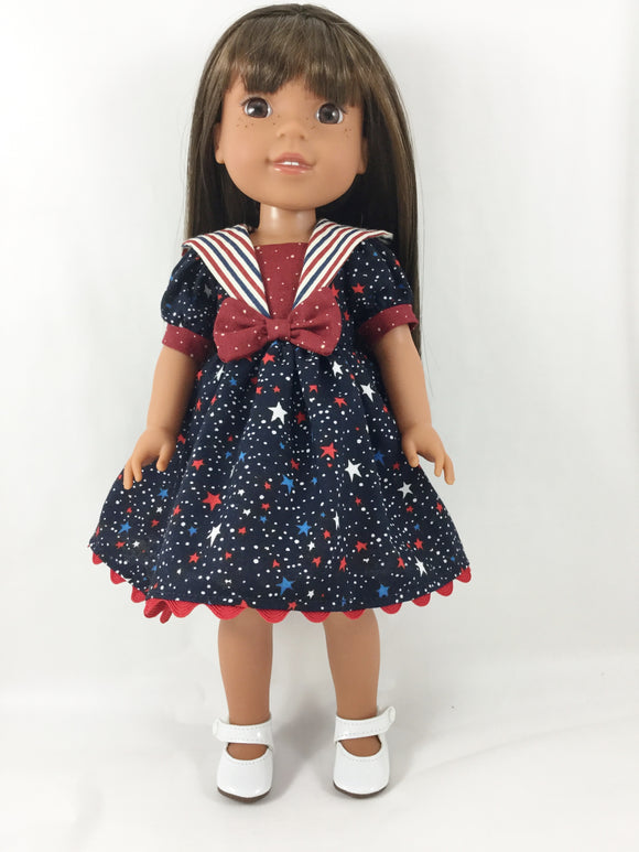 Sailor Dress Fits WellieWishers and 13