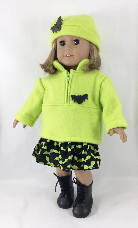The Nora Set Half Zip Pullover Ruffled Skirt Hat Halloween