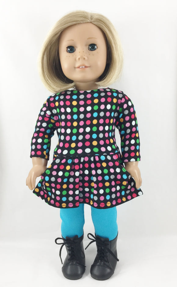The Page Tee Shirt Dress and Leggings Multi Color Dots