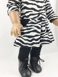 The Page Tee Shirt Dress and Leggings Zebra Print