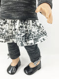 The Nina Set Fits 18 Inch Dolls Black and White Toile