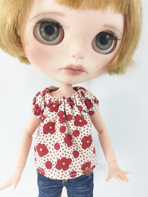 Peasant Top for Blythe Dolls