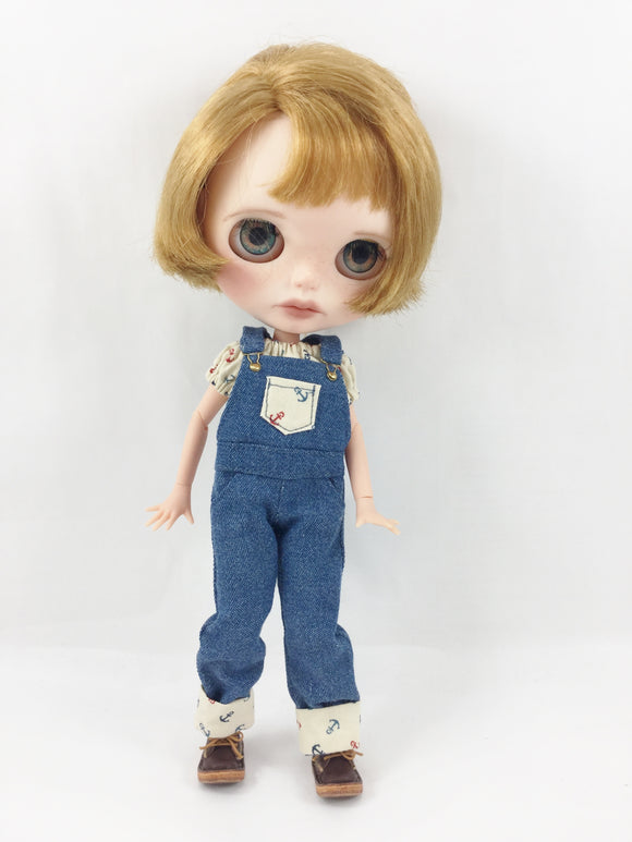 Made For Blythe Overalls and Peasant Top Nautical