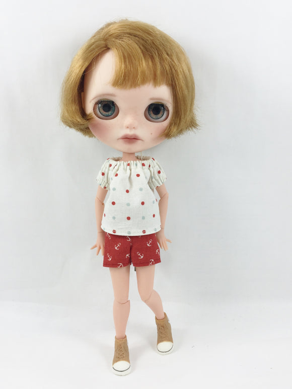 Fits Blythe Nautical Shorts and Peasant Top