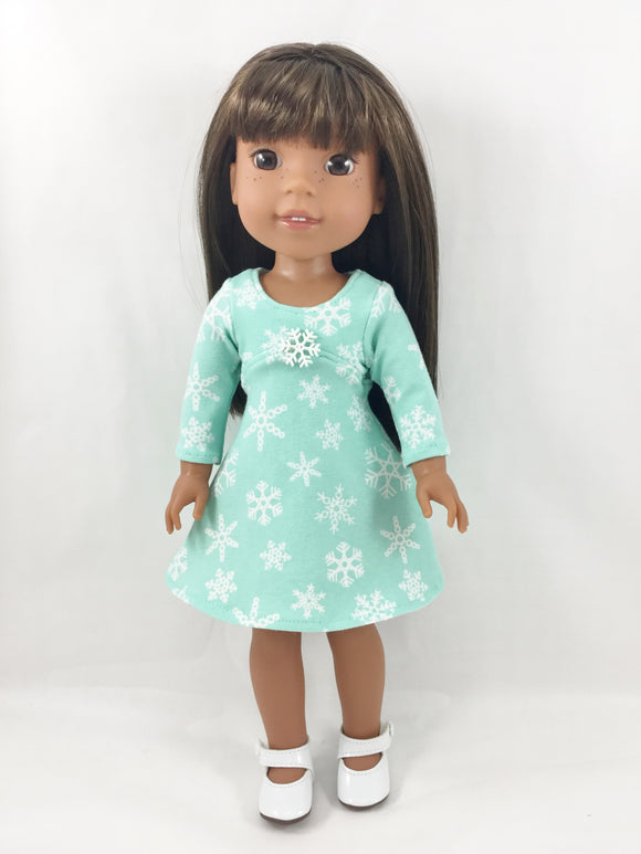 Fits WellieWishers Christmas Winter Holiday Dress