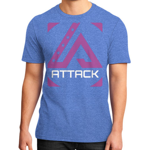 Attack Combat T-Shirt (on man) Heather blue Attack Apparel