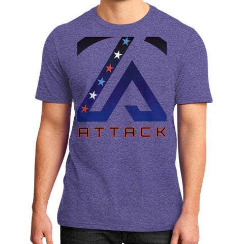 Attack Combat T-Shirt (on man) Heather purple Attack Apparel