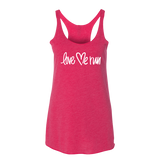 Women's Love Me White Logo Tank