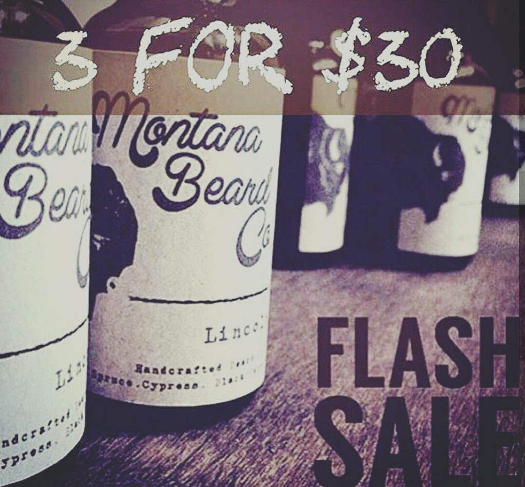 FLASH SALE - 3 Beard Oils