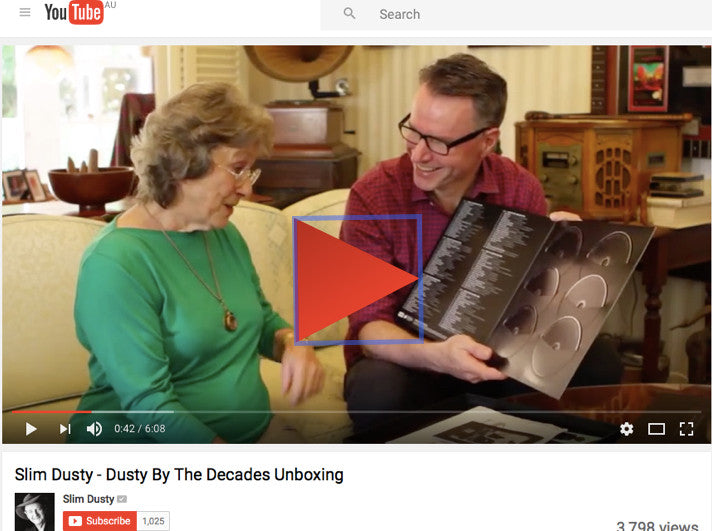 Colin present Joy McKean with the unboxing of Slim Dusty Deluxe Set - Dusty