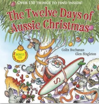 12 Days Of Aussie Christmas Book (Soft Cover) and CD