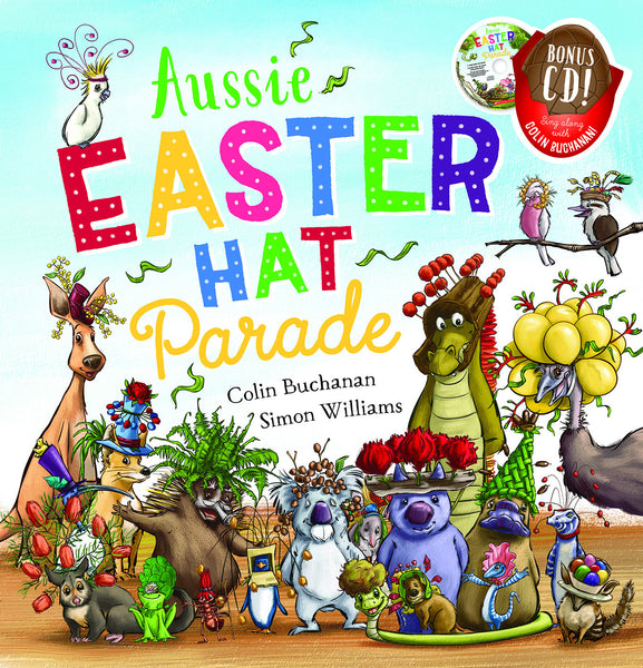 Aussie Easter Hat Parade Book Hard Cover + CD