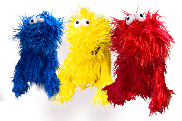 Little Nudge - Colin's Puppet Pal - Yellow, Red, Blue