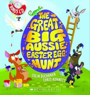 The Great Big Aussie Easter Egg Hunt Book Hard Cover + CD/ also available in SOFT COVER