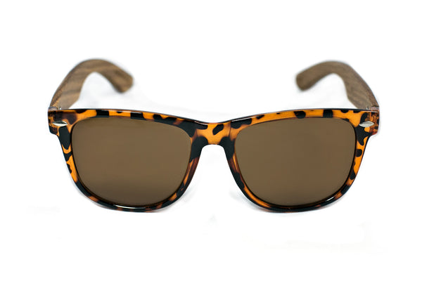 Tortoise Zebra Wood Sunglasses