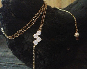 4 CZ on Chain with Pave Ball Drop