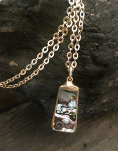 Abalone Rectangle Pendant