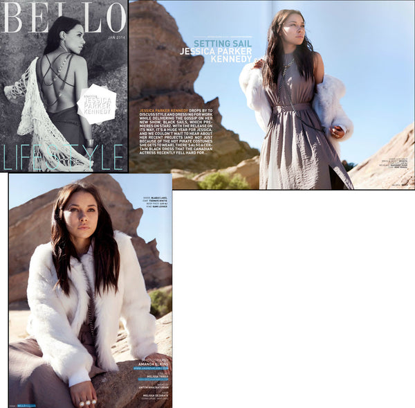 Jessica Parker Kennedy in Bello Magazine