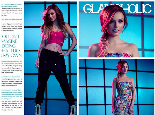 Cher Lloyd on Glamaholic Magazine