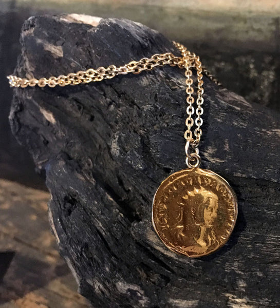 Gold Overlay Coin Pendants