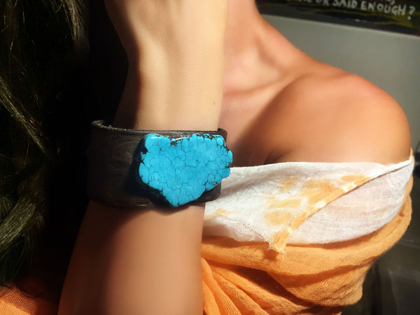 Blue Turquoise Vintage Cuff