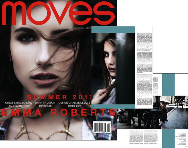 Emma Roberts in Moves Magazine