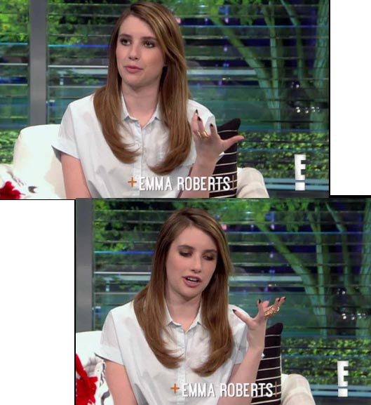Emma Roberts on E! News