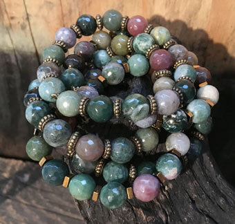 Fancy Jasper Bracelets (Large) on Stretch Cord