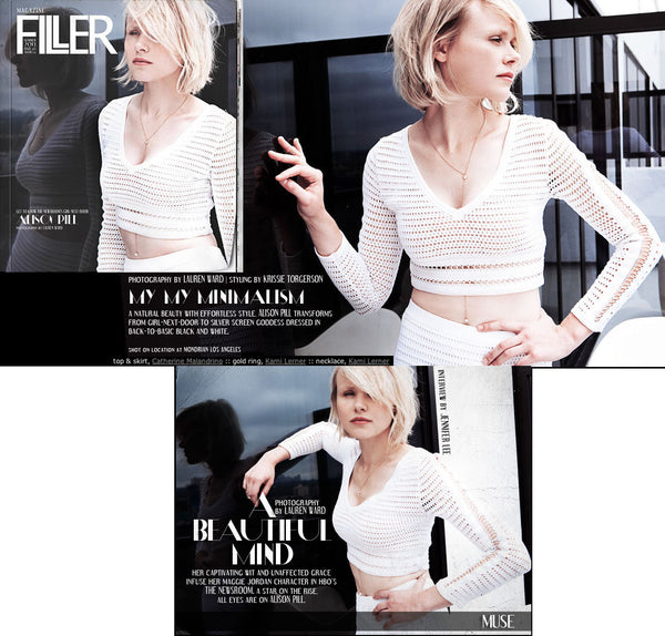 "Alison Pill (star of HBO's ""Newsroom"") in Filler Magazine"