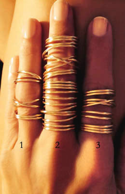Wire Wrap Rings - Twisted