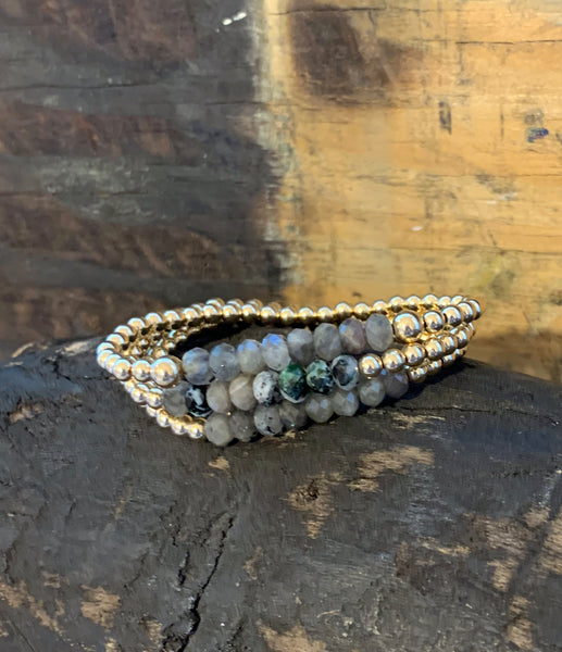 Gold Filled 4MM Bracelet with Zoisite Stones