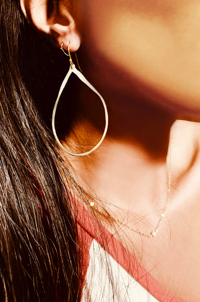 Gold Filled Hammered Earrings