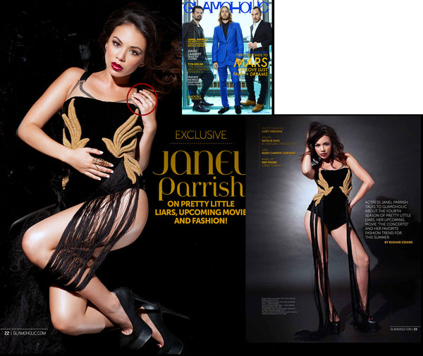 "Janel Parrish (""Pretty Little Liars"") in Glamoholic Magazine"