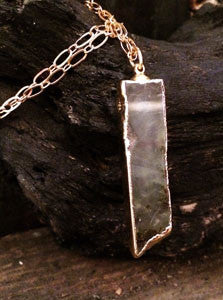 Lace Agate (Brown/Clear) Pendant